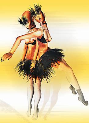 Digital Art - Dancers by Theda Tammas
