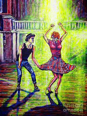 Painting - Dancers by Viktor Lazarev