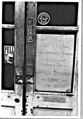 Wall Art - Photograph - Dancers Wanted by Mary McGrath