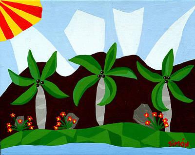 Dancin Palms Print by Lourdes  SIMON
