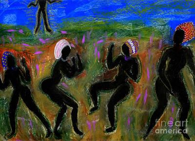 Dancing A Deliverance Prayer Art Print by Angela L Walker