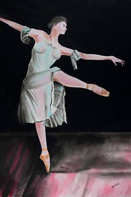 Pastel - Dancing Ballerina 2 by Paul Cubeta