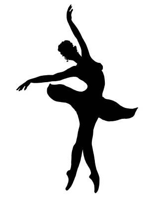 Painting - Dancing Ballerina Silhouette by Irina Sztukowski