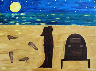 Night Shirt Painting - Dancing Barefoot by Patrick J Murphy