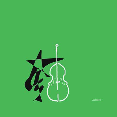 Digital Art - Dancing Bass In Green by David Bridburg