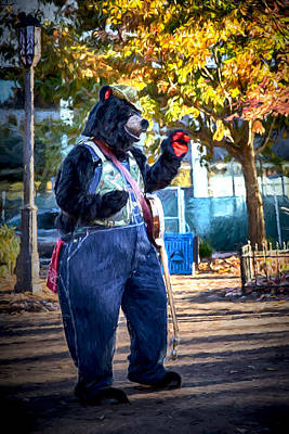 Digital Art - Banjo Beary In Pritchard Park by John Haldane