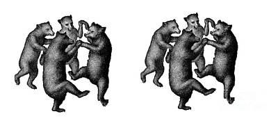 Drawing - Dancing Bears Mug by Edward Fielding