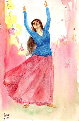 Painting - Dancing Beauty by Asha Sudhaker Shenoy