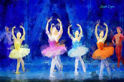 Gymnastics Digital Art - Dancing Beauty - Da by Leonardo Digenio