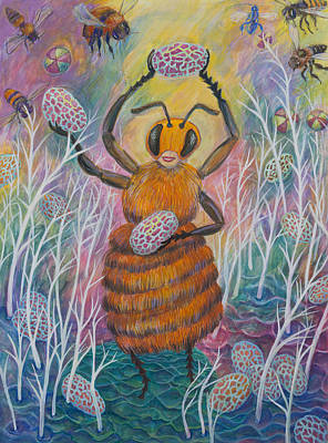 Painting - Dancing Bee by Shoshanah Dubiner