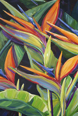 Painting - Dancing Birds by Patti Bruce - Printscapes
