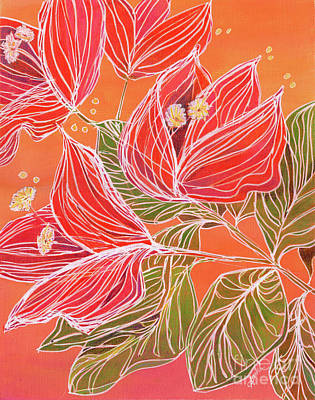 Painting - Dancing Bougainvillea by Amelia at Ameliaworks