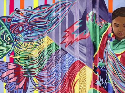Painting - Dancing Butterflies by Tyrone Whitehawk
