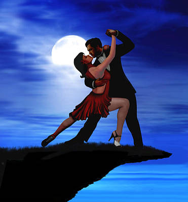 Digital Art - Dancing By Moonlight by Glenn Holbrook