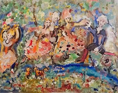 Painting - Dancing By The Stream by Judith Desrosiers