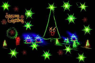 Photograph - Dancing Christmas Trees Seasons Greeting by Kay Brewer