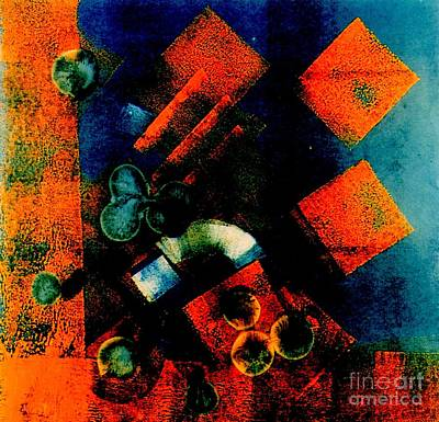 Dancing Circles And Squares Art Print by Jane Gatward