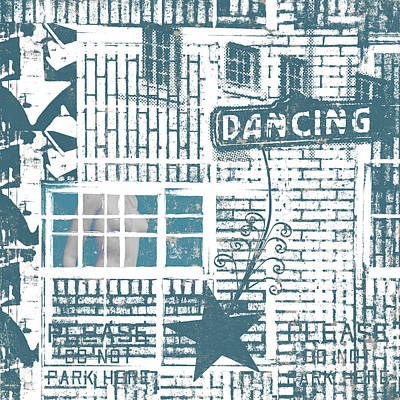 Mixed Media - Dancing Collage by Carol Leigh