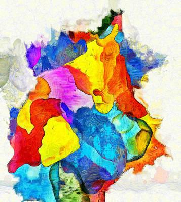 Painting - Dancing Colors by Dan Sproul