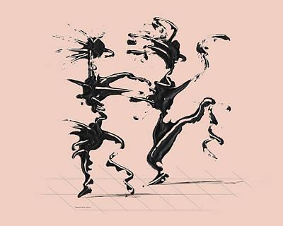 Dancer Digital Art - Dancing Couple 4 - Pale Dogwood by Manuel Sueess