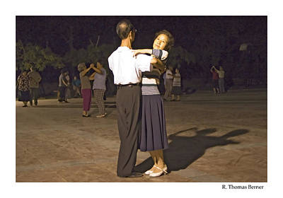 Art Print featuring the photograph Dancing Couple by R Thomas Berner