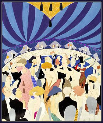 Golden Twenties Mixed Media - Dancing Couples Vintage Poster 1921 by Carsten Reisinger