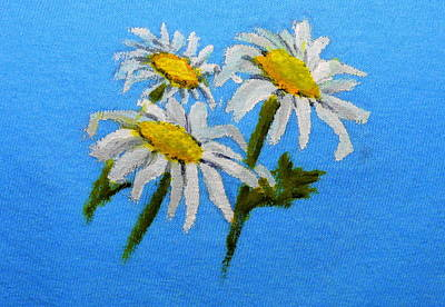 Painting - Dancing Daisies by Betty-Anne McDonald