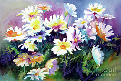 Daiseys Painting - Dancing Daisies by Kathy Braud