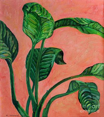 Painting - Dancing Dieffenbachia Leaves by Karen Adams