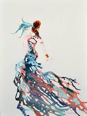 Lynee Sapere Wall Art - Painting - Dancing Diva by Lynee Sapere