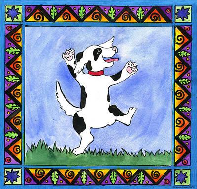 Painting - Dancing Dog by Pamela  Corwin