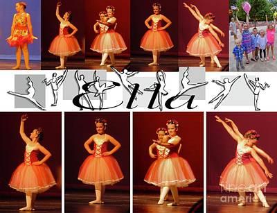 Mixed Media - Dancing Ella  by Nancy Patterson