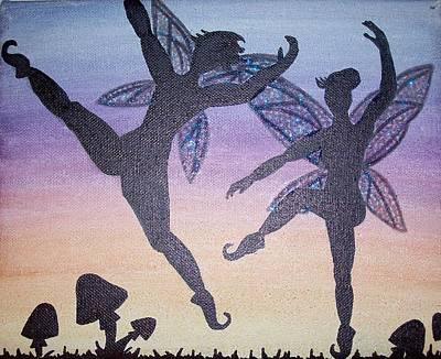 Dancing Fairy Couple Art Print by Amy Lauren Gettys