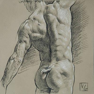 Hunk Drawing - Dancing Faun by Victor Gadino