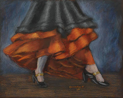 Drawing - Dancing Feet by Quwatha Valentine