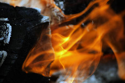 Photograph - Dancing Fire by Edward Hawkins II