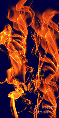 Digital Art - Dancing Fire I by Clayton Bruster