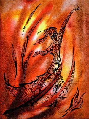 Painting - Dancing Fire II by Irina Sztukowski