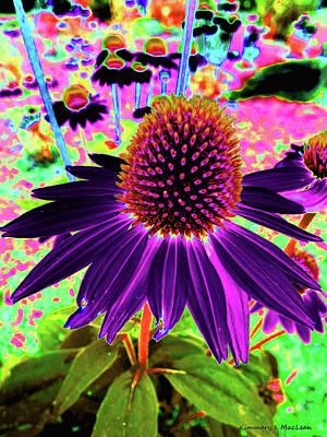 Digital Art - Dancing Flower by Kimmary I MacLean