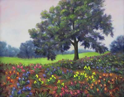 Wall Art - Painting - Dancing Flowers by Vicki Van Vynckt