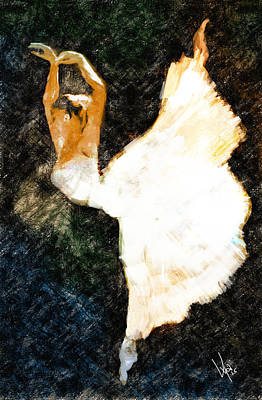 Ballet Painting - Dancing For Joy by Vya Artist