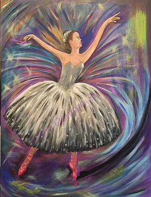 Dancing For The Limelight Art Print by Ann Couture Stray