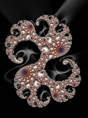 Dancing Fractal Spirals With Beautiful Colors Art Print