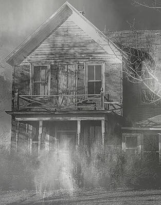 Haunted House Digital Art - Dancing Ghosts II by Theresa Campbell