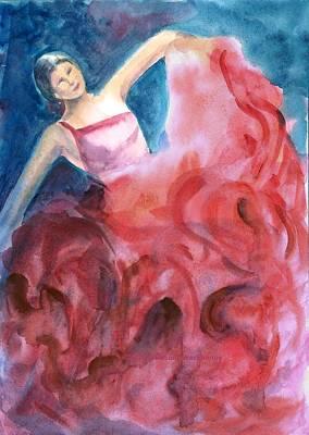Painting - Dancing Girl by Asha Sudhaker Shenoy
