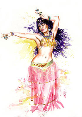 Dancing Girl Art Print by Ken Meyer jr