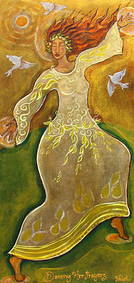 Of Dancers Painting - Dancing Her Prayers by Shiloh Sophia McCloud