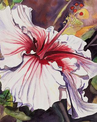 Kauai Artist Painting - Dancing Hibiscus by Marionette Taboniar