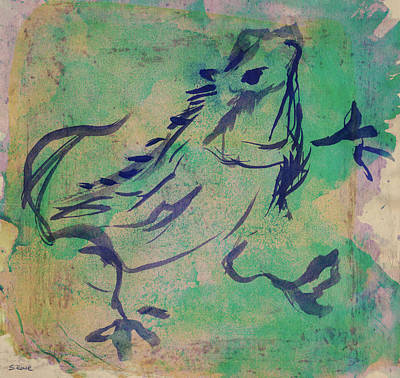 Painting - Dancing Iguana by Shawna Rowe
