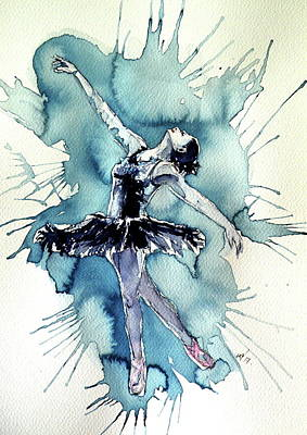 Sweet Dreams Painting - Dancing In Black by Kovacs Anna Brigitta